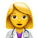 ️Woman Health Worker Emoji on Apple macOS and iOS iPhones
