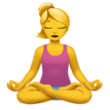 Woman In Lotus Position Emoji on Apple macOS and iOS iPhones