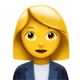 Woman Office Worker Emoji on Apple macOS and iOS iPhones