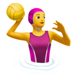 Woman Playing Water Polo Emoji on Apple macOS and iOS iPhones