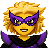 Woman Supervillain Emoji on Apple macOS and iOS iPhones