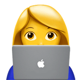 Woman Technologist Emoji on Apple macOS and iOS iPhones