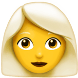 Woman, White Haired Emoji on Apple macOS and iOS iPhones