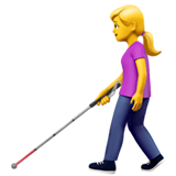 Woman With White Cane Emoji on Apple macOS and iOS iPhones