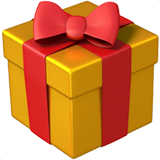 Wrapped Gift Emoji on Apple macOS and iOS iPhones