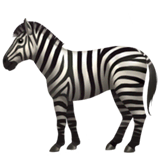 Zebra Emoji on Apple macOS and iOS iPhones