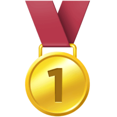 1st Place Medal Emoji on Facebook