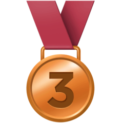 3rd Place Medal Emoji on Facebook