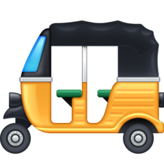 Auto Rickshaw Emoji on Facebook