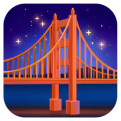Bridge at Night Emoji on Facebook