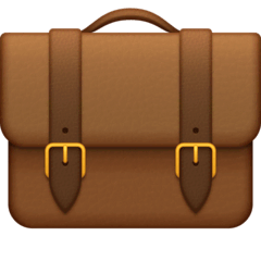 Briefcase Emoji on Facebook