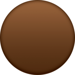 Brown Circle Emoji on Facebook