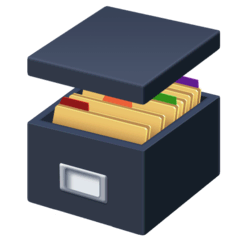 Card File Box Emoji on Facebook