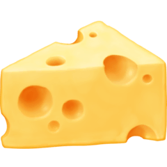 Cheese Wedge Emoji on Facebook