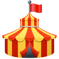 Circus Tent Emoji on Facebook