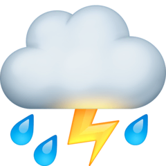 Cloud With Lightning and Rain Emoji on Facebook