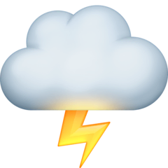 Cloud With Lightning Emoji on Facebook