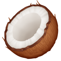 Coconut Emoji on Facebook
