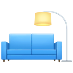 Couch and Lamp Emoji on Facebook