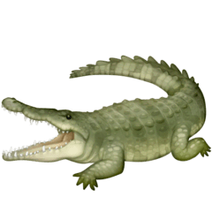 Crocodile Emoji on Facebook