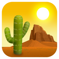 Desert Emoji on Facebook