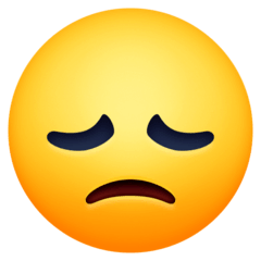 Disappointed Face Emoji on Facebook