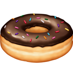 Doughnut Emoji on Facebook