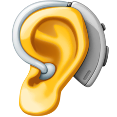 Ear With Hearing Aid Emoji on Facebook
