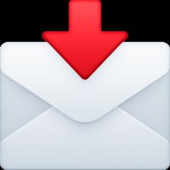Envelope With Arrow Emoji on Facebook