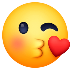 Face Blowing a Kiss Emoji on Facebook