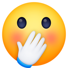 Face With Hand Over Mouth Emoji Meaning Copy Paste