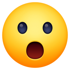 Face With Open Mouth Emoji on Facebook