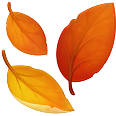 Fallen Leaf Emoji on Facebook