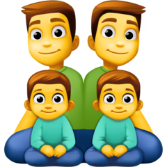 Family: Man, Man, Boy, Boy Emoji on Facebook