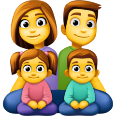 Family: Man, Woman, Girl, Boy Emoji on Facebook