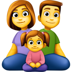 Family: Man, Woman, Girl Emoji on Facebook