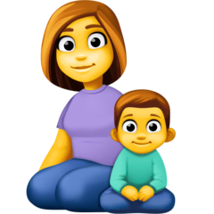 Family: Woman, Boy Emoji on Facebook