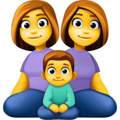 Family: Woman, Woman, Boy Emoji on Facebook