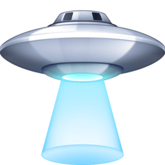 Flying Saucer Emoji on Facebook