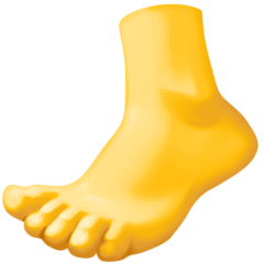 Foot Emoji on Facebook