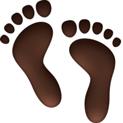 Footprints Emoji on Facebook