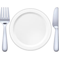 Fork and Knife With Plate Emoji on Facebook