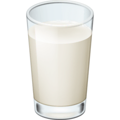 Glass of Milk Emoji on Facebook