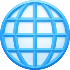 Globe With Meridians Emoji on Facebook