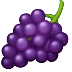 Grapes Emoji on Facebook