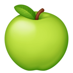 Green Apple Emoji on Facebook