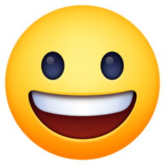 Grinning Face Emoji on Facebook