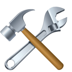Hammer And Wrench Emoji on Facebook