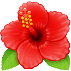 Hibiscus Emoji on Facebook