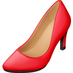 High-heeled Shoe Emoji on Facebook